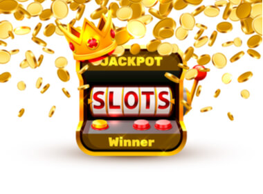 many gold coins floating around an online casino console relating a jackpot winner
